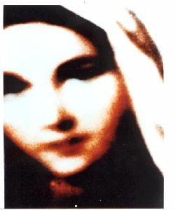 Face of the virgin mary